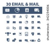 email  message  mail  icons ... | Shutterstock .eps vector #342254006