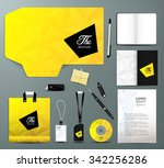 stationery design set business... | Shutterstock .eps vector #342256286