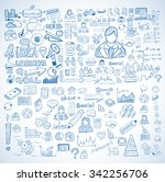 business doodles sketch set  ... | Shutterstock .eps vector #342256706