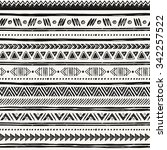tribal hand drawn background ... | Shutterstock .eps vector #342257522