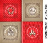 decorative flourishes line art... | Shutterstock .eps vector #342259508