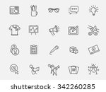 marketing icons  | Shutterstock .eps vector #342260285