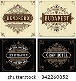 vintage logo templates  hotel  ... | Shutterstock .eps vector #342260852