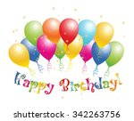 abstract happy birthday... | Shutterstock .eps vector #342263756