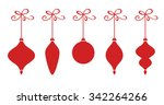 five christmas baubles | Shutterstock .eps vector #342264266