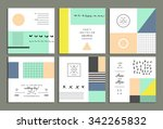 collection of universal cards.... | Shutterstock .eps vector #342265832