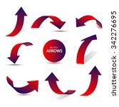 set of gradient arrows stickers   Shutterstock .eps vector #342276695