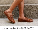 fashion leather and brown... | Shutterstock . vector #342276698