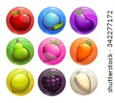 set of colorful bubbles with...