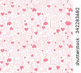 cute doodle seamless pattern... | Shutterstock .eps vector #342283682