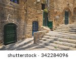 the old port city of jaffa in...   Shutterstock . vector #342284096