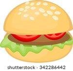 hamburger | Shutterstock . vector #342286442