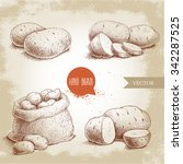 hand drawn sketch style set... | Shutterstock .eps vector #342287525