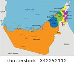 colorful united arab emirates... | Shutterstock .eps vector #342292112