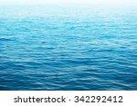 Blue Sea Water. Ocean Surface...