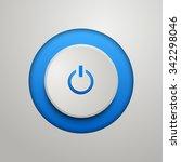 blue power button. vector...   Shutterstock .eps vector #342298046