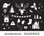 a set of christmas symbols for