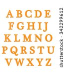 alphabet letters  isolated on... | Shutterstock . vector #342299612