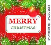 merry christmas card design... | Shutterstock .eps vector #342301685