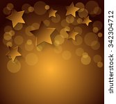golden stars background. vector ... | Shutterstock .eps vector #342304712