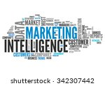 word cloud with marketing... | Shutterstock . vector #342307442