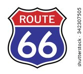 route 66 sign . vector... | Shutterstock .eps vector #342307505