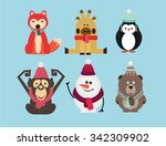 vector illustration set of... | Shutterstock .eps vector #342309902