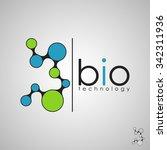 abstract biotechnology molecule ... | Shutterstock .eps vector #342311936