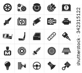 black car parts and services... | Shutterstock .eps vector #342315122