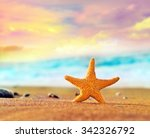 starfish on the summer beach | Shutterstock . vector #342326792