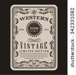 western frame border vintage... | Shutterstock .eps vector #342331082