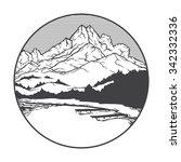 vector image of a volcano pelee ... | Shutterstock .eps vector #342332336