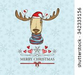 christmas card with christmas... | Shutterstock .eps vector #342335156
