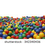 multi colored plastic balls. a  ... | Shutterstock . vector #342340436