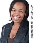 young african woman with black... | Shutterstock . vector #34234069