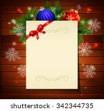 christmas background with paper ... | Shutterstock .eps vector #342344735