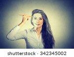 Beautiful Woman Drawing Self...