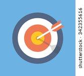 target marketing icon. target... | Shutterstock .eps vector #342355616