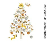 wonderful christmas tree with... | Shutterstock .eps vector #342356252