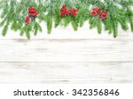 Christmas Tree Branches And Re...