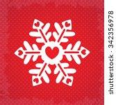 heart snow flake  christmas of... | Shutterstock .eps vector #342356978