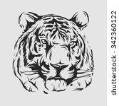 tiger head | Shutterstock .eps vector #342360122