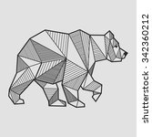 abstract bear geometric  | Shutterstock .eps vector #342360212