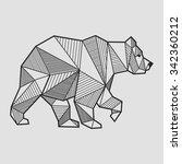 abstract bear geometric  | Shutterstock .eps vector #342360212