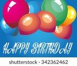 happy birthday balloon   Shutterstock .eps vector #342362462