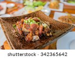 spicy fried fish cambodian food | Shutterstock . vector #342365642