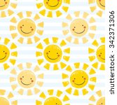 Cute Baby Sunshine Seamless...