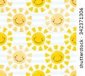 Cute Baby Sunshine Seamless...