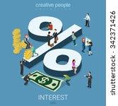 interest rate percent flat 3d...   Shutterstock .eps vector #342371426