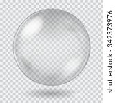 big white transparent glass...   Shutterstock .eps vector #342373976